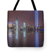 Tribute In Light Reflections Tote Bag