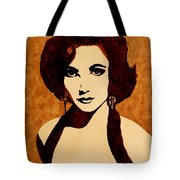 Tribute To Elizabeth Taylor Coffee Painting Tote Bag