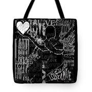 Tribute To Love In Black Tote Bag