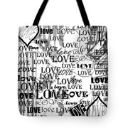 Tribute To Love In White Tote Bag