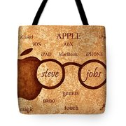 Tribute To Steve Jobs 2 Digital Art Tote Bag