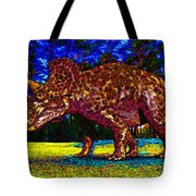Triceratops Painting Tote Bag