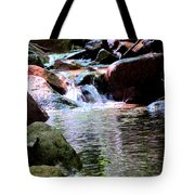 Trickle Down The Mountain Tote Bag