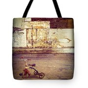 Tricycle In Abandoned Room Tote Bag