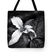 Trillium - Black And White Tote Bag