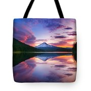 Trillium Lake Sunrise Tote Bag