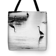 Trilogy - Black And White Tote Bag