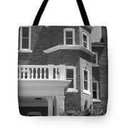 Trims And Courses Black And White Tote Bag