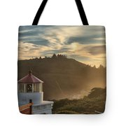 Trinidad Beach Lighthouse Tote Bag by Adam Jewell