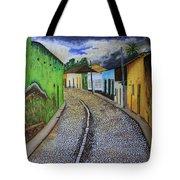 Trinidad Cuba Original Oil Painting 16x12in Tote Bag