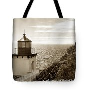 Trinidad Head Light Humboldt County California 1910 Tote Bag