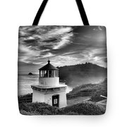 Trinidad Light In Black And White Tote Bag by Adam Jewell