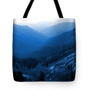 Trinity #2 Enhanced In Blue Tote Bag