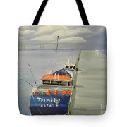 Trinity Long Line Fishing Trawler At San Remo  Tote Bag