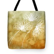 Trio Abstract Flower Art  Tote Bag