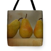 Trio Of Pears Tote Bag