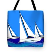 Trio Of Sailboats Tote Bag