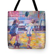 Trios At Dominion Skating Rink Tote Bag