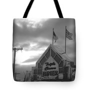 Triple Crown Diner In Black And White Tote Bag