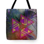 Triple Harmony - Square Version Tote Bag