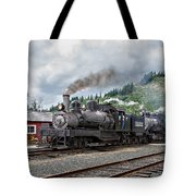 Triple Header In Color Tote Bag