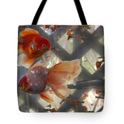 Triple Tail Goldfish Tote Bag