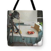 Tripod And Bowl Of Fruit Tote Bag