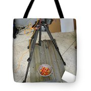 Tripod And Cherries On Floor Tote Bag
