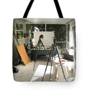 Tripods And Set Up Tote Bag