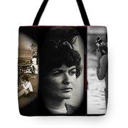 Triptych Jackie Sharkey Center Panel Cinco De Mayo Nogales Sonora 1969-2011 Tote Bag