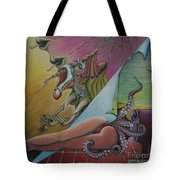 Triptych Left Tote Bag