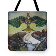 Triptych Middle Tote Bag