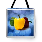 Triptych - Pepper Traffic Lights 2 Tote Bag by Alexander Senin