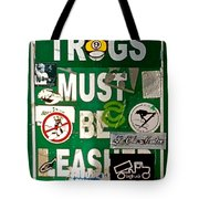 Trogs Must Be Leashed Tote Bag