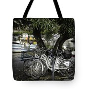 Trois Bikes Tote Bag