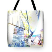 It Was A Sunny Day In The Old City  Tote Bag
