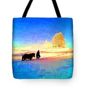 A Very Cold Winter Can Give Warmth To Your Heart  Tote Bag