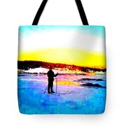 The Winter Light And The Snow And Ice  Tote Bag
