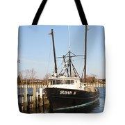 Troller At Dock Tote Bag