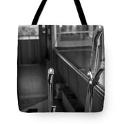 Trolley 28 Leaver Black And White Tote Bag