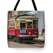 Trolley Car At The Fort Edmonton Park Tote Bag