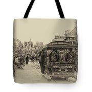 Trolley Car Main Street Disneyland Heirloom Tote Bag
