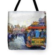 Trolley Car Main Street Disneyland Photo Art 02 Tote Bag