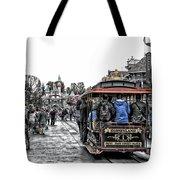 Trolley Car Main Street Disneyland Sc Tote Bag