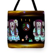 Trolls In Hippie Wood Tote Bag