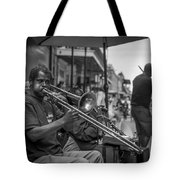 Trombone In New Orleans 2 Tote Bag by David Morefield