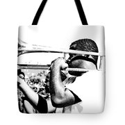 Trombone Man Bw Tote Bag