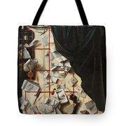 Trompe L Oeil With Letters Tote Bag