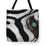 Trophy Hunter In Eye Of Dead Zebra Tote Bag