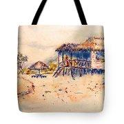 Tropical  Beach Hut Tote Bag